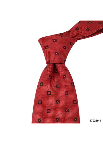Red color Ties . MarZthomson 8Cm Cross Motif Woven Tie -