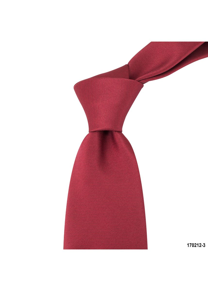 Red color Ties . MarZthomson 8Cm Ribbed Tie -