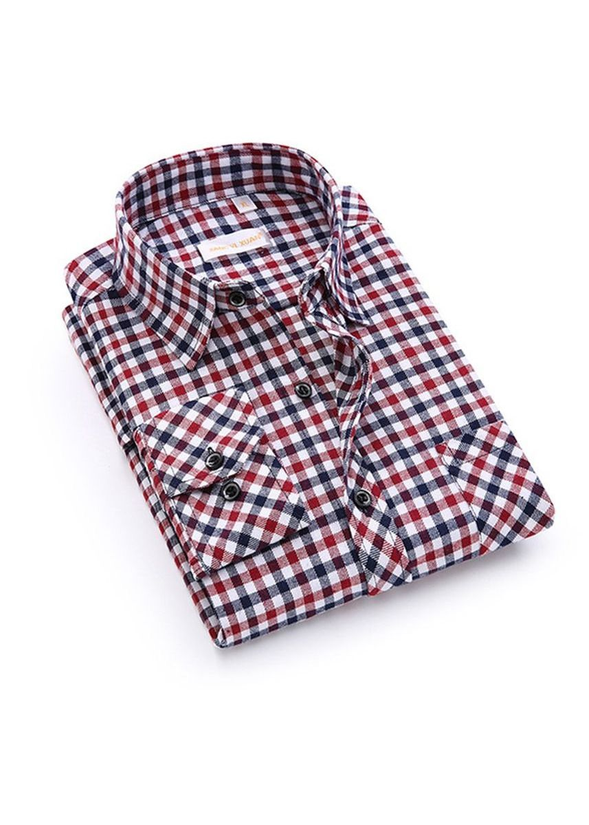 Red color Casual Shirts . Men's Gingham Flannel Shirt -