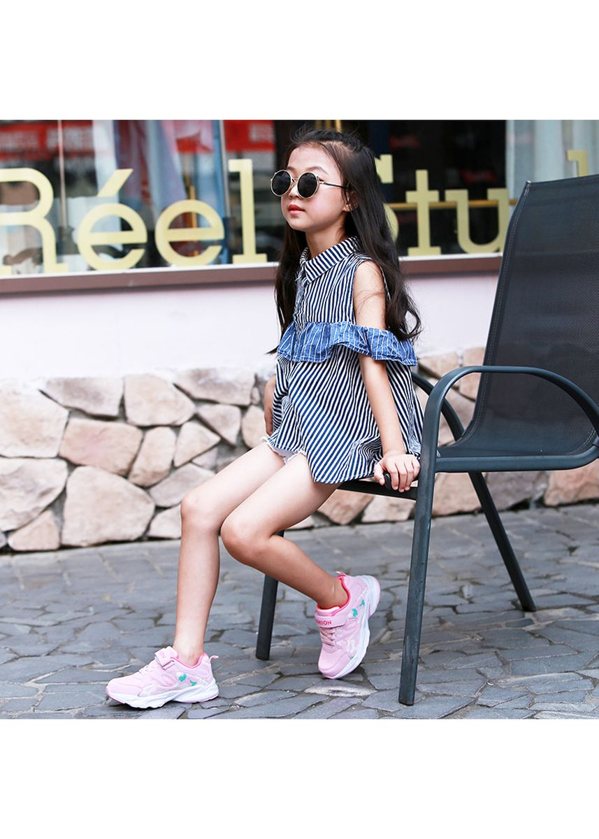 Pink color Footwear . 2018 Girls' sneakers breathable running shoes -