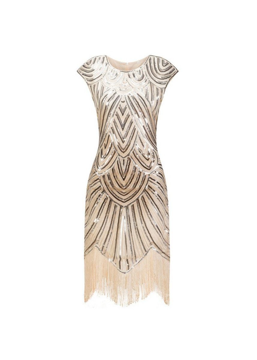 Pink color Dresses . Flapper Great Gatsby Sequin Fringe Party Dress -