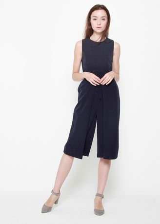 Navy color Jump Suits . Kylie Sleeveless Jumpsuit -