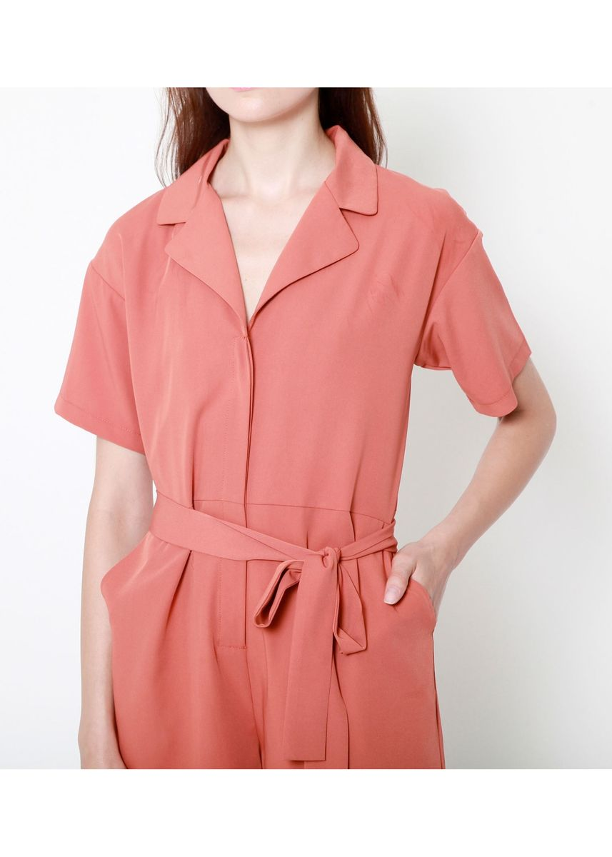 Red color Jump Suits . Lindsey Relaxed Playsuit -