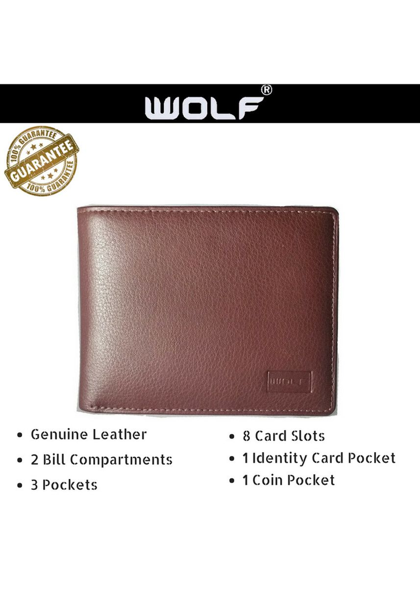 Brown color Wallets . Leather Bifold Fashion Wallet for Men - Dark Brown -