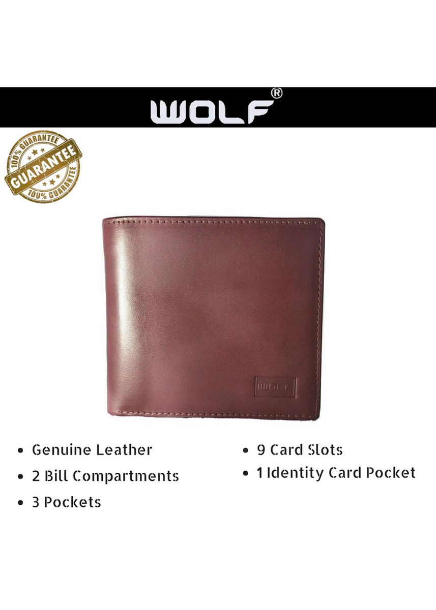 Brown color Wallets . Leather Bifold Fashion Card Slots Wallet for Men -