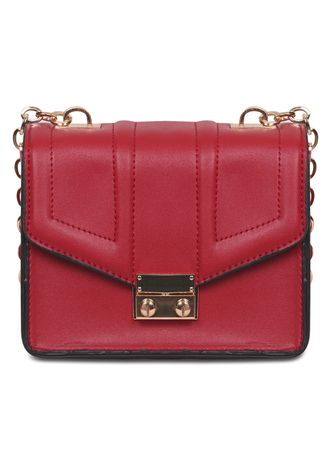 Red color Sling Bags . Blackpink  - GLAM Chain PU Leather Women Bag Import -