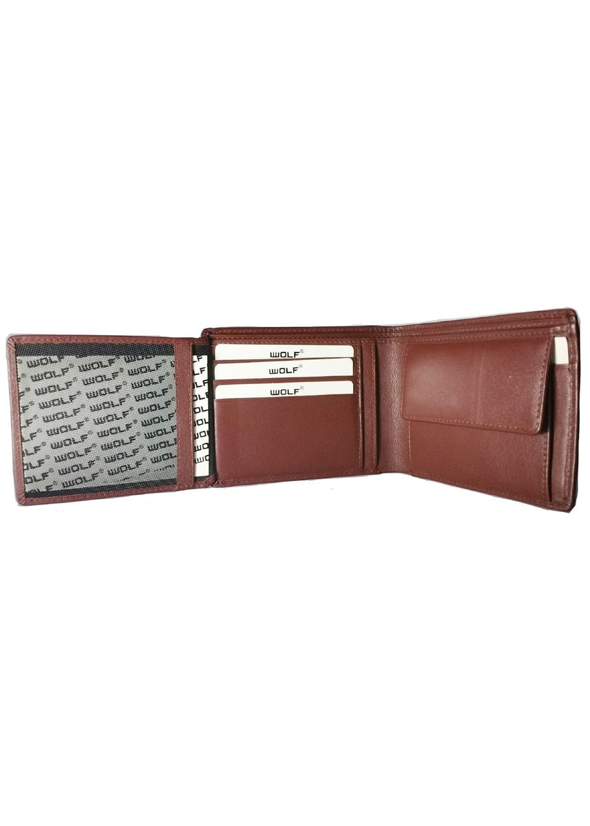 Brown color Wallets . Leather Bifold Fashion Multi-Card Slots Wallet for Men - Brown -