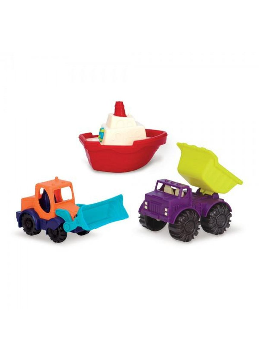 Multi color Toys . B.Toys - Loaders & Floaters, Mini Vehicles (3 Piece Set) -