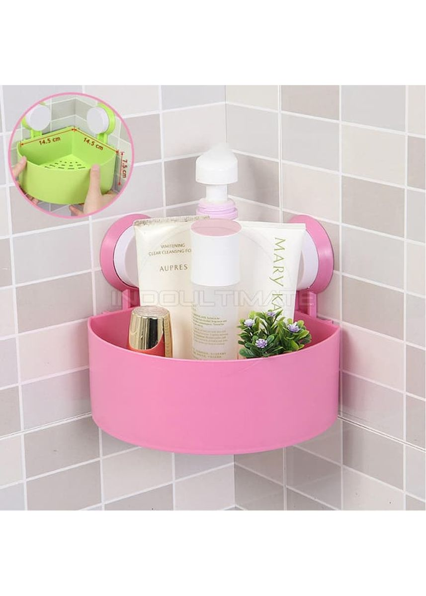 Pink color Bathroom . RADYSA Rak Sudut / Holder Kamar Mandi - Pink -