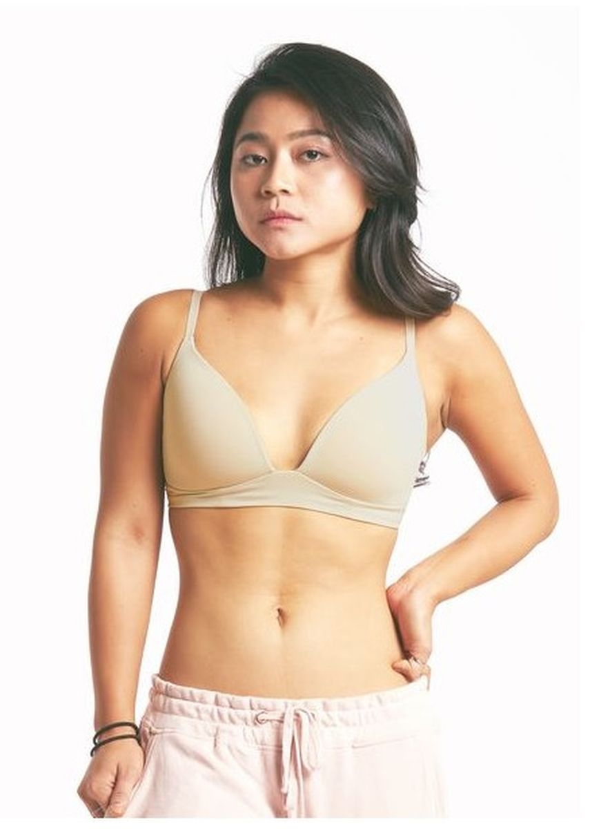 Beige color Bras . Hope Wireless Bralette  -