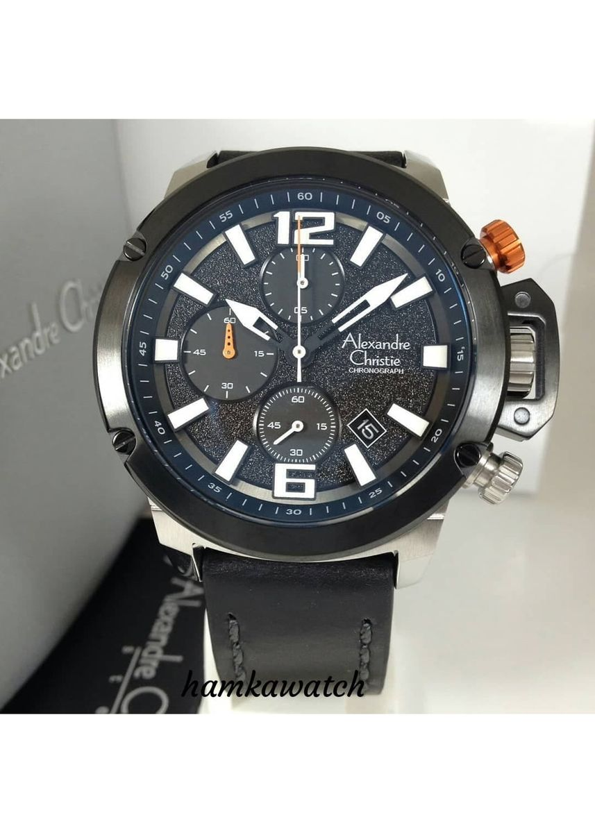Black color Analog . jam tangan pria alexander cristie original ac6487 silver black -