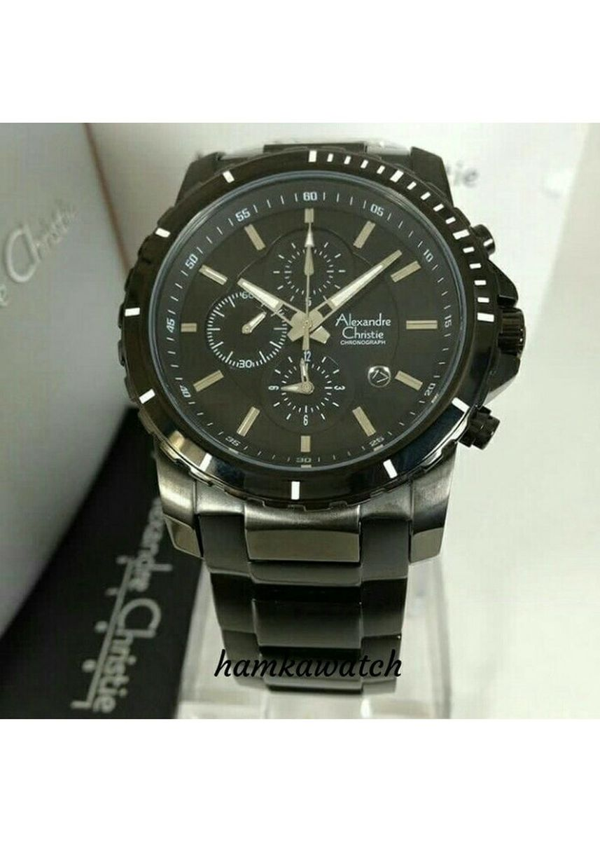 Black color Analog . jam tangan pria alexander cristie original ac6141 black new rose gold -