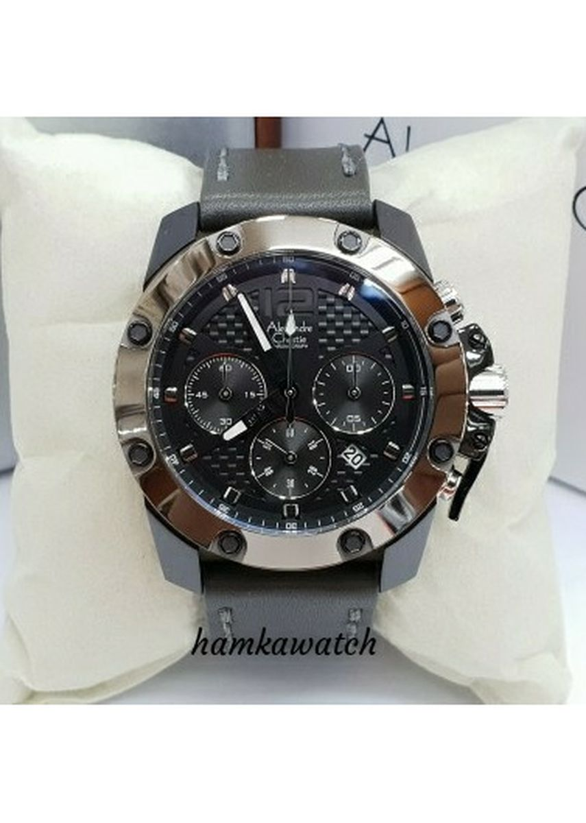 Black color Analog . jam tangan pria alexander cristie original ac6290 black gun -