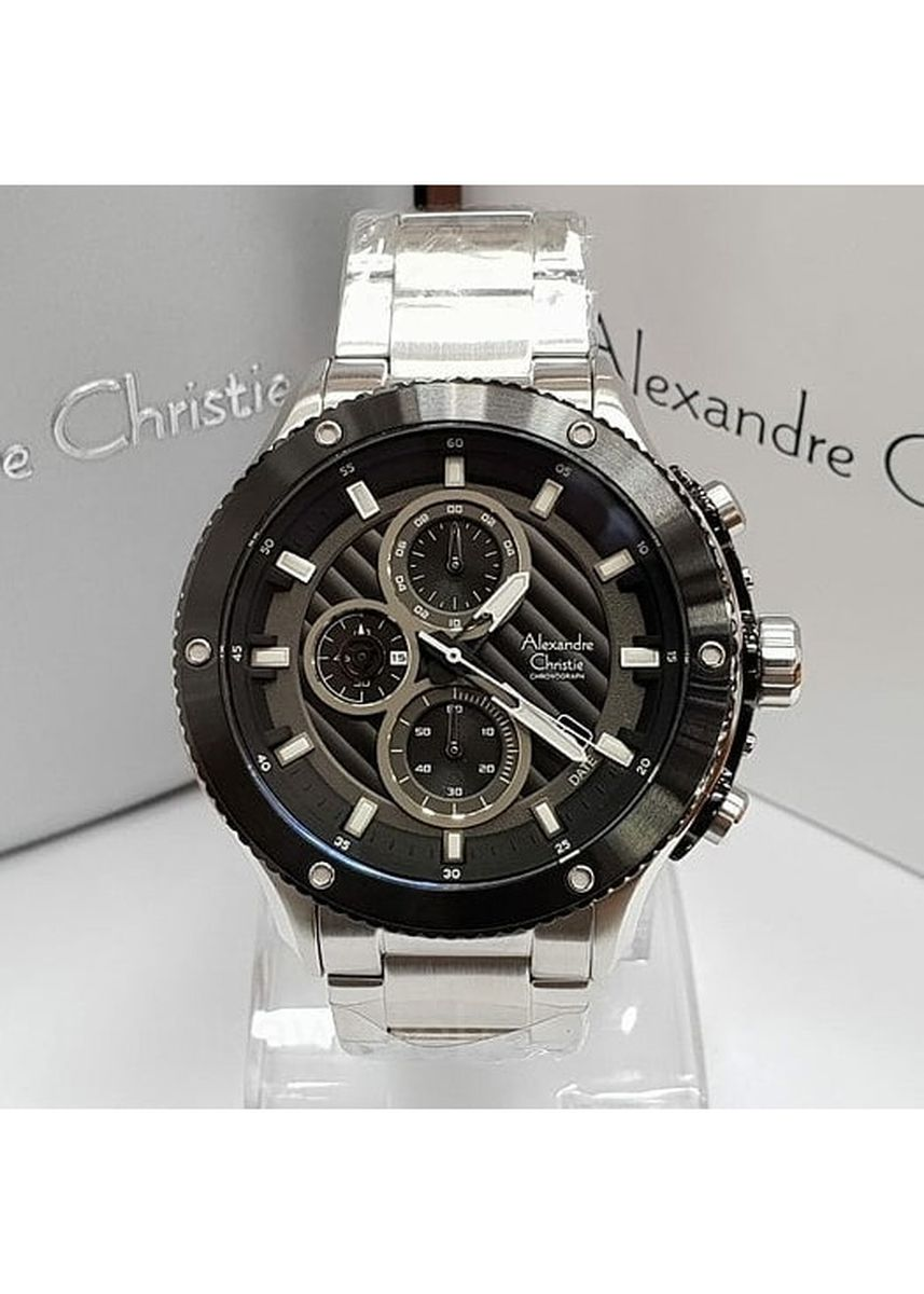 Black color Analog . jam tangan pria alexander cristie original ac6489 silver black -