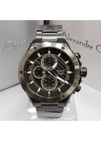 Black color Analog . jam tangan pria alexander cristie original ac6489 black -