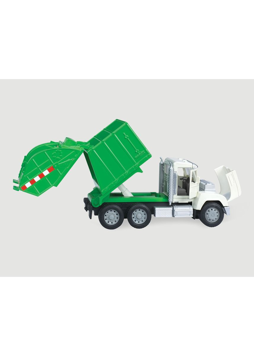 Green color Toys . Driven - Micro Series Recycling Truck -