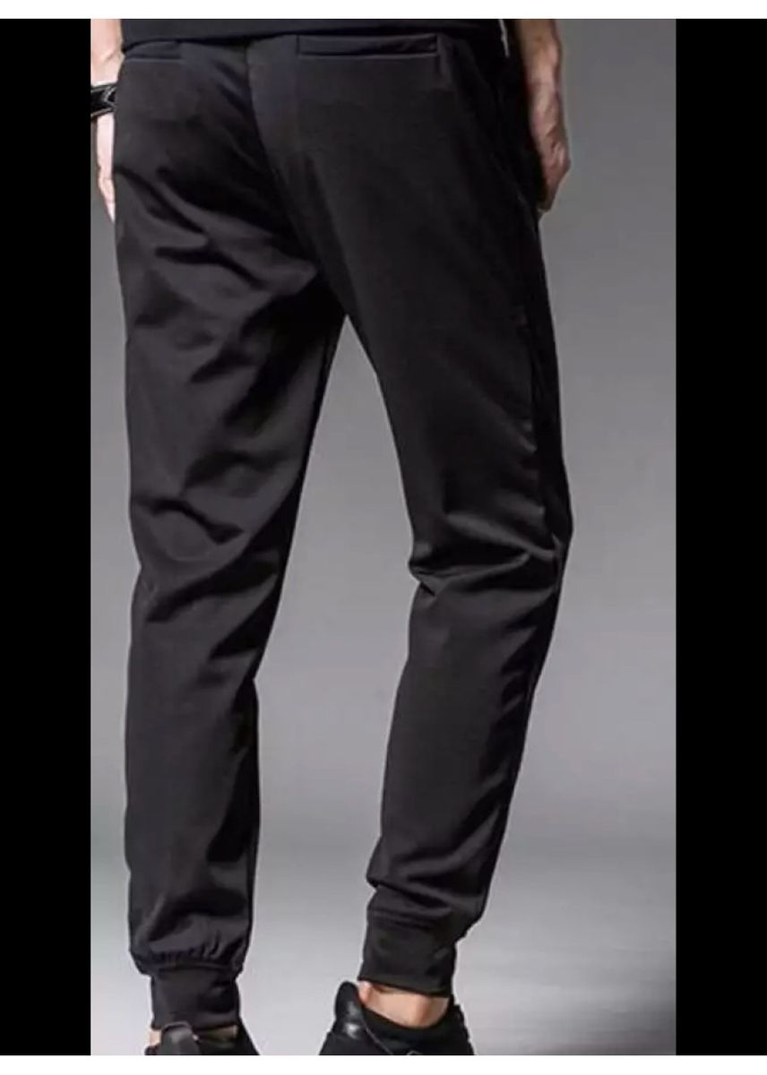 Black color Casual Trousers and Chinos . Plain Jogger Pants -