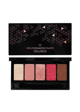 Pink color Eyes . Cellnco Eye Love Shadow Palette - Pink Mood -