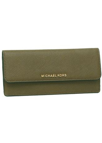 f153a11754334b Michael Kors Jet Set Travel Flat Wallet Olive | Women's Wallets and ...