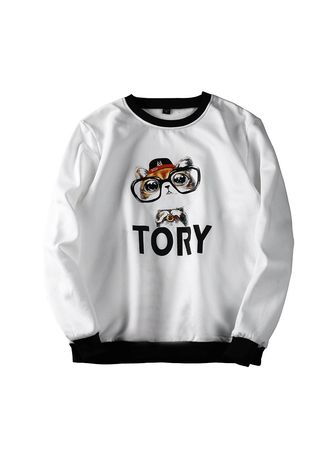 White color Sweatshirts . Men's Tory Sweatshirt  -