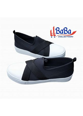 Black color Casual Shoes . BaBa Sepatu Snekaers  Wanita - Kets Casual Trendy ADS -