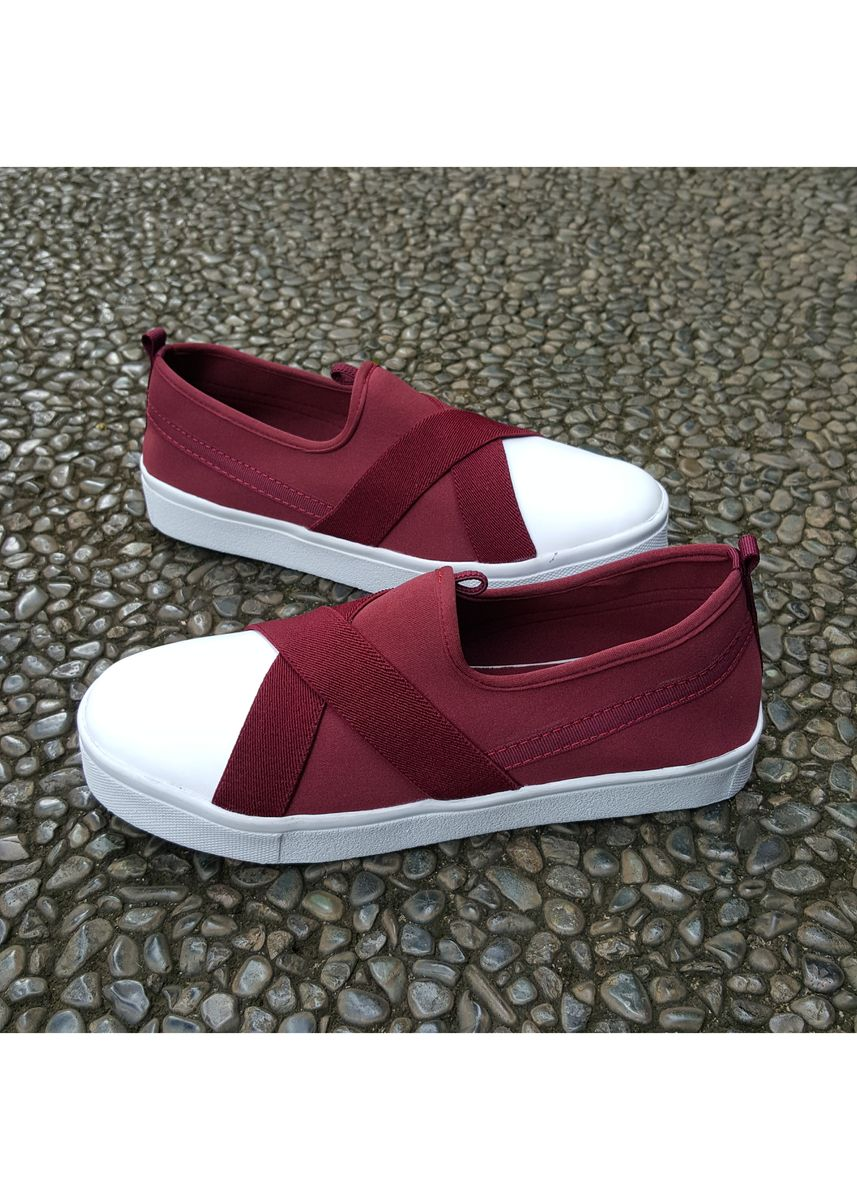 Maroon color Casual Shoes . BaBa Sepatu Snekaers  Wanita - Kets Casual Trendy ADS -