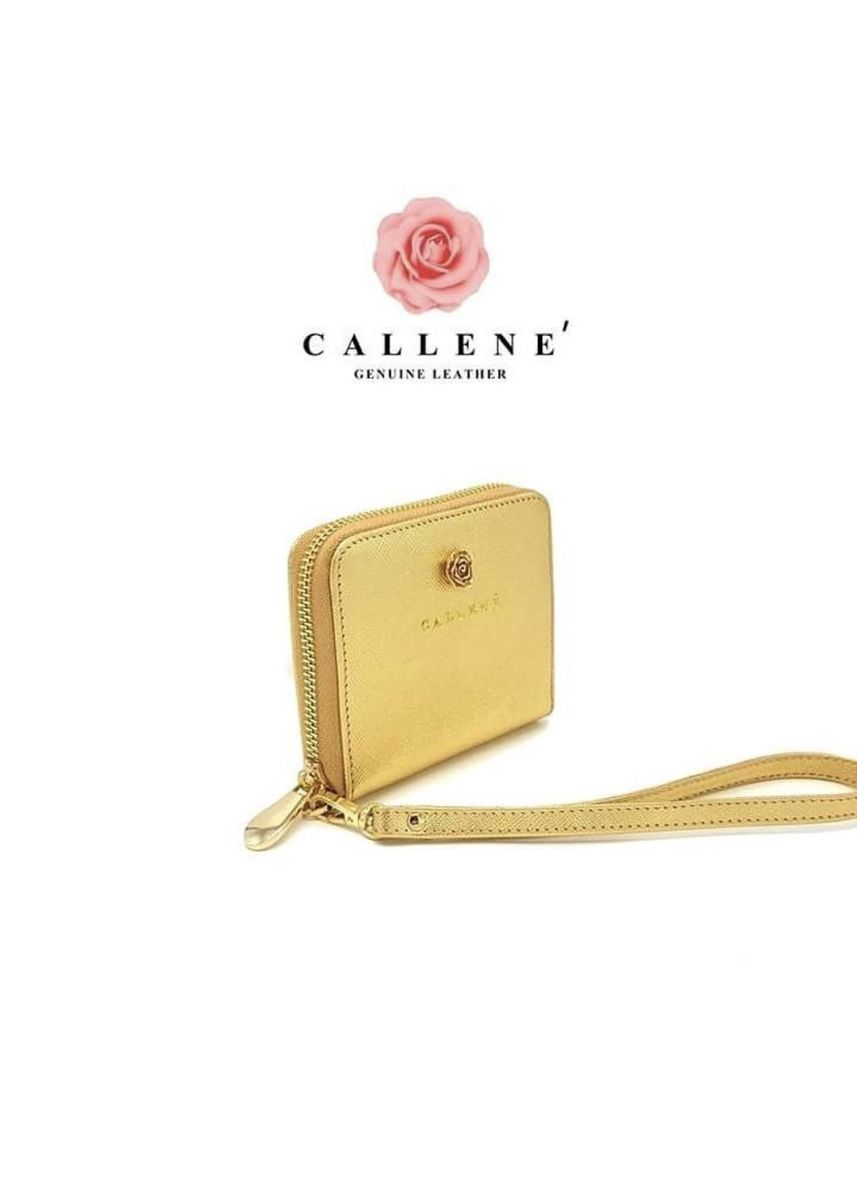Gold color Wallets and Clutches . กระเป๋าตังรุ่น  MINI ELLY ZIPPER  -