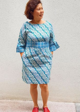 Yuki Kimono Inspired Batik Dress - Parang | Women\'s Plus ...