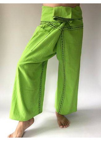 Casual Trousers and Chinos . F80022 Hand Sewing Inseam design for Thai Fisherman Pants Wide Leg pants, Wrap pants, Unisex pants -