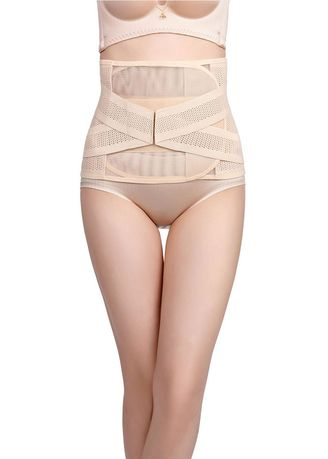 Beige color Corsets . Breathable Tummy Control Adjustable Shapewear Girdle -