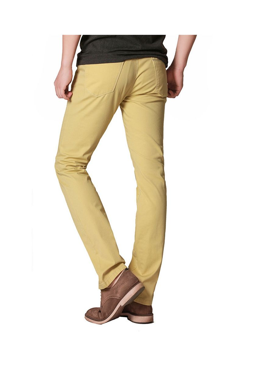 Yellow color Casual Trousers and Chinos . Men's Casual Fashion Trousers -