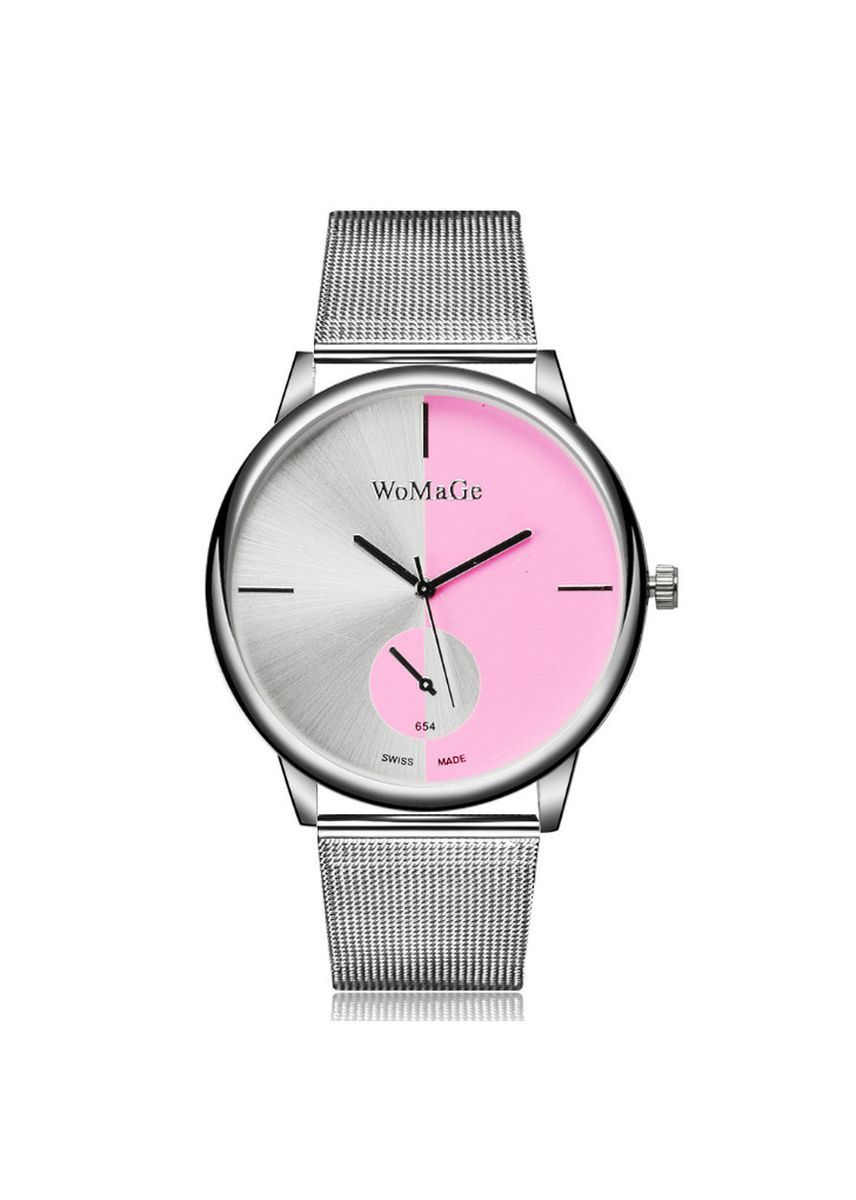 Pink color Analog . Fashion Net Belt Watch -