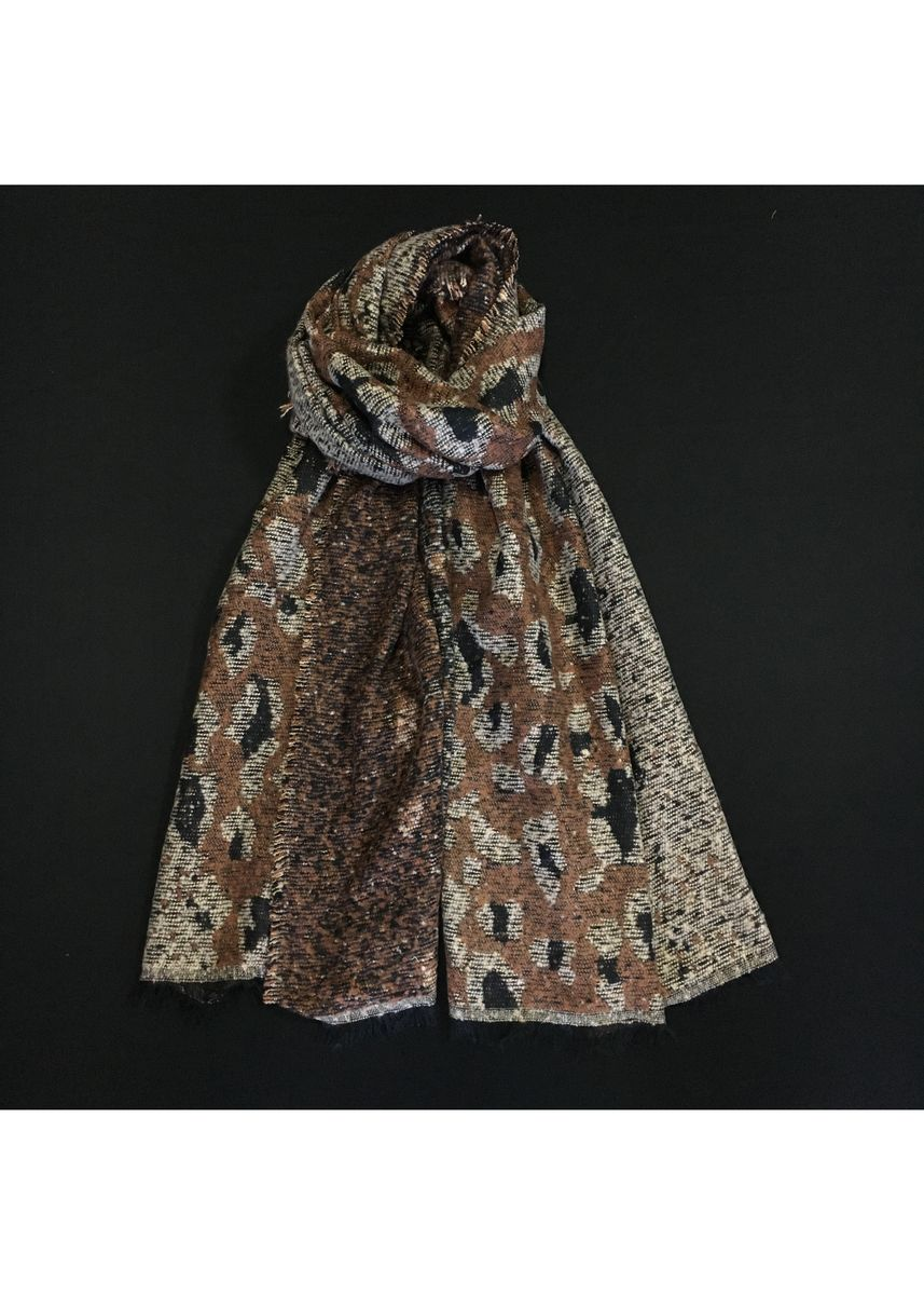Multi color Scarves . Multi-Colored Leopard Print Wool Scarf -