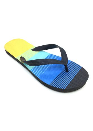 Multi color Sandals and Slippers . Men's Multi Color with Stripes Rubber Slippers -