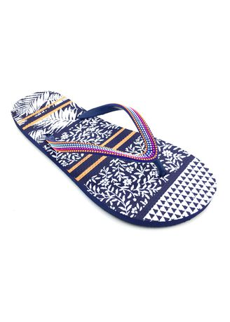 Blue color Sandals and Slippers . Women's Black Beaded Rubber Slippers -