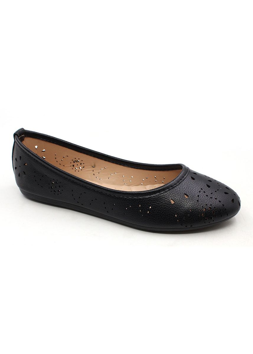 Black color Casual Shoes . Genuine Leather Slip On Cut Out Shoes -