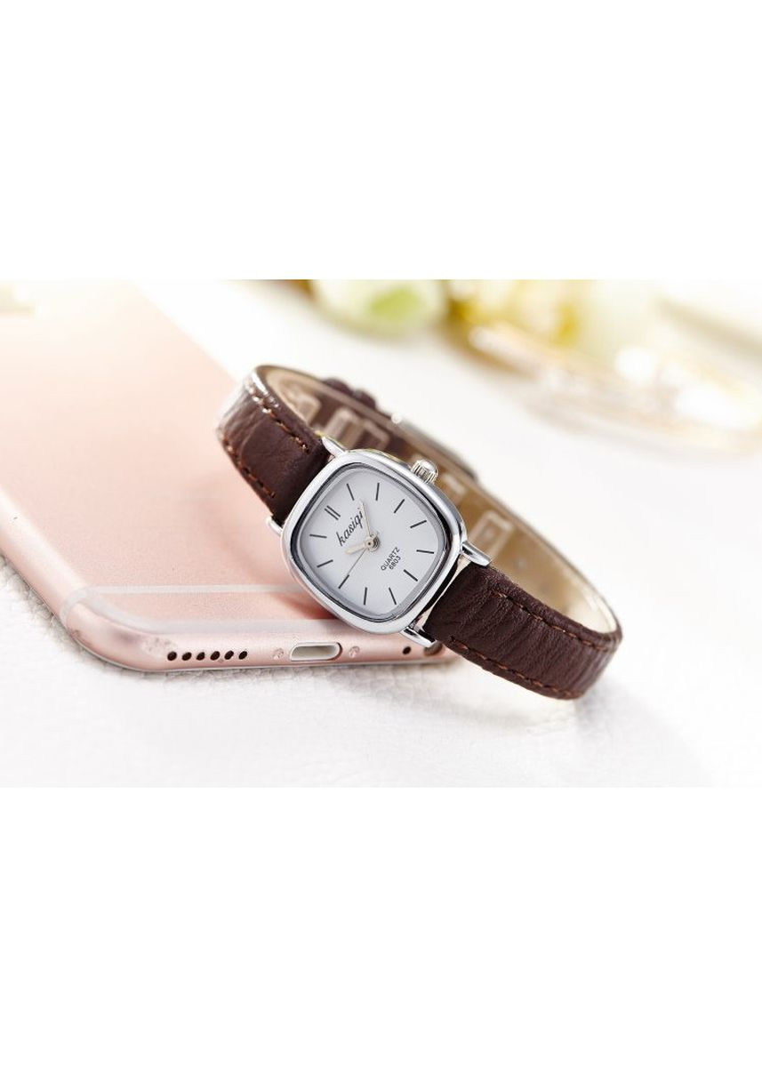 Brown color Analog . Women's Brown Square Small Dial Watch Waterproof Quartz Wrist Watch -