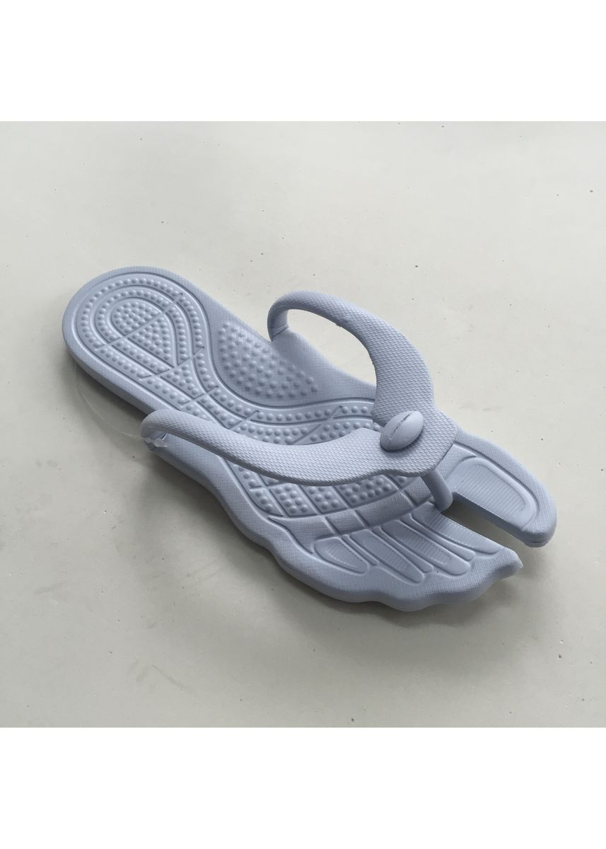 Light Grey color Sandals and Slippers . Rubber Open Toe Men's Slipper -