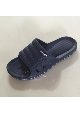 Navy color Sandals and Slippers . Men's Casual Slip On Shoes -