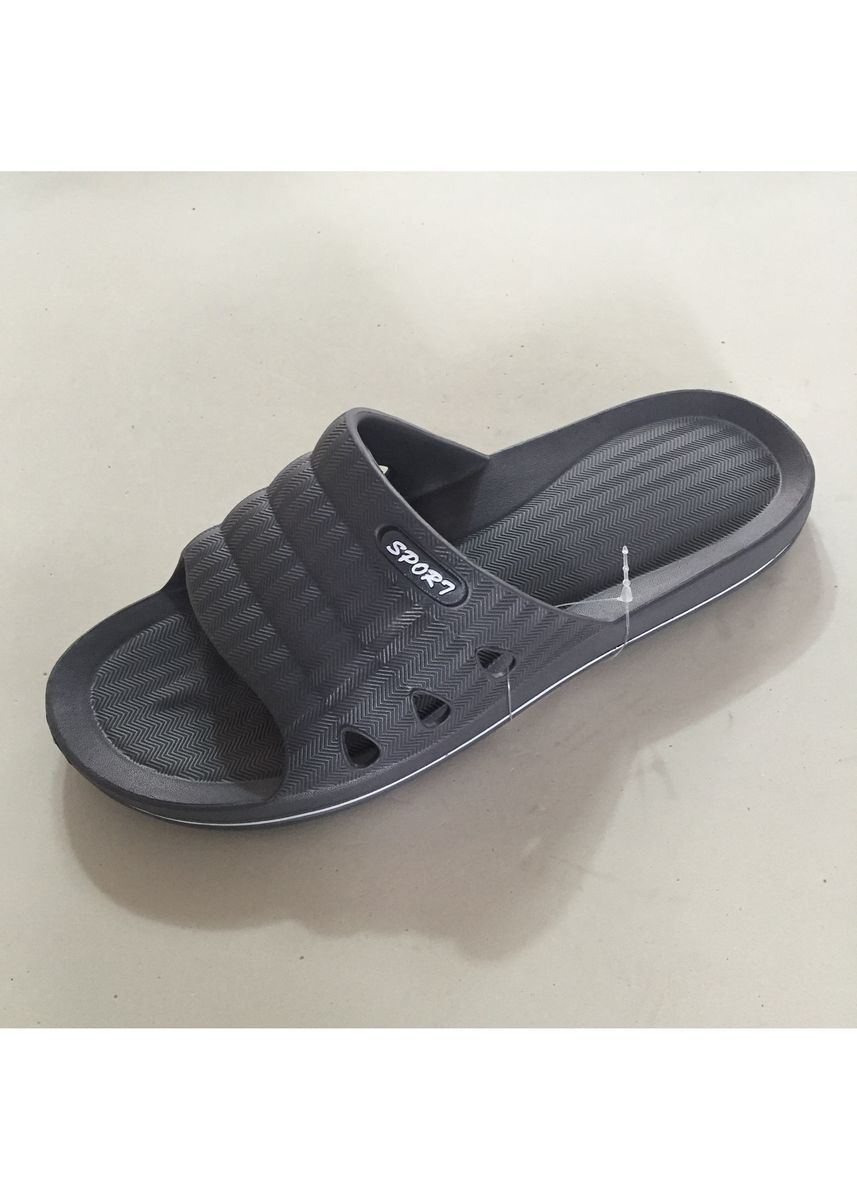 Grey color Sandals and Slippers . Men's Casual Slip On Shoes -