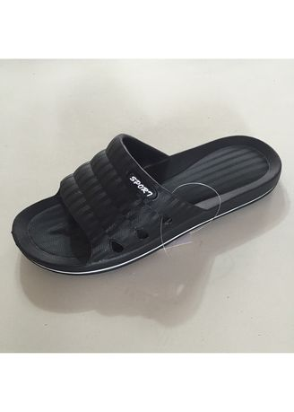 Black color Sandals and Slippers . Men's Casual Slip On Shoes -