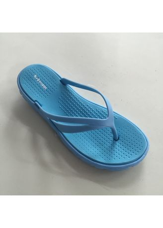 Blue color Sandals and Slippers . Rubber Flip Flop Women's Slipper -