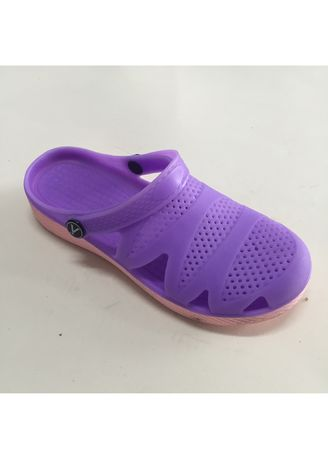 Violet color Sandals and Slippers . Slip On Open Back Rubber Women's TPE Slipper -