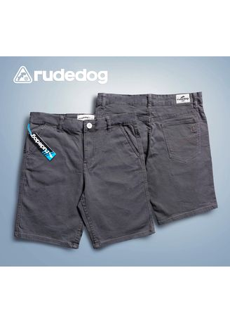 Grey color Casual Trousers and Chinos . กางเกงขาสั้น  ชาย rudedog รุ่น chill day สีเทา -