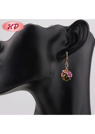 Multi color  . Round-Shaped Earrings -