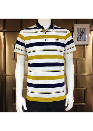 1019871fdea3 Men's White, Gold And Dark Blue Polo   Men's T-Shirts and Polos ...