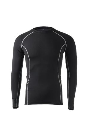 Black color Sports Wear . Men's Line Outline Compression Top -