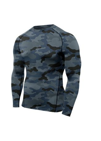 Multi color Sports Wear . Men's Camouflage Compression Top -