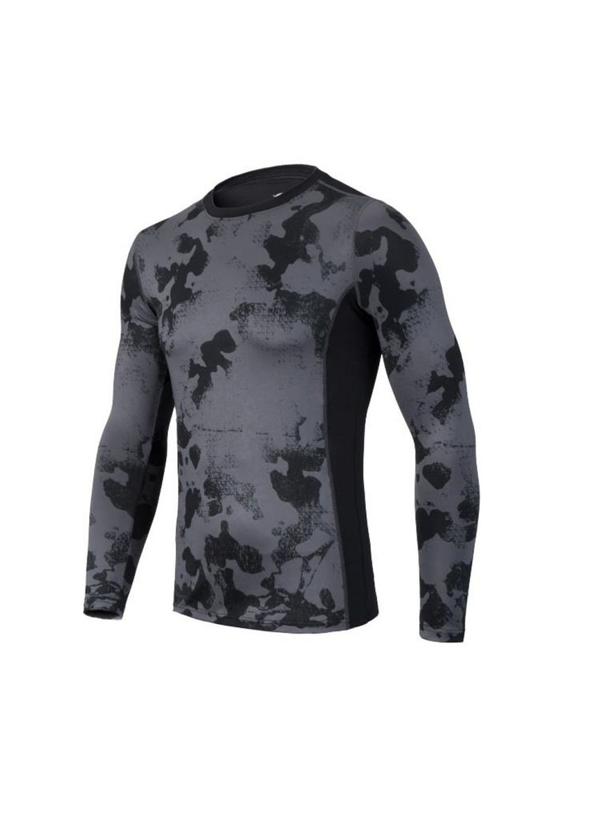 Grey color Sports Wear . Men's Grey Camouflage Compression Top -