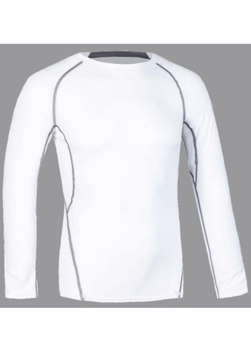 White color Sports Wear . Men's Fitted Spandex Compression Top -